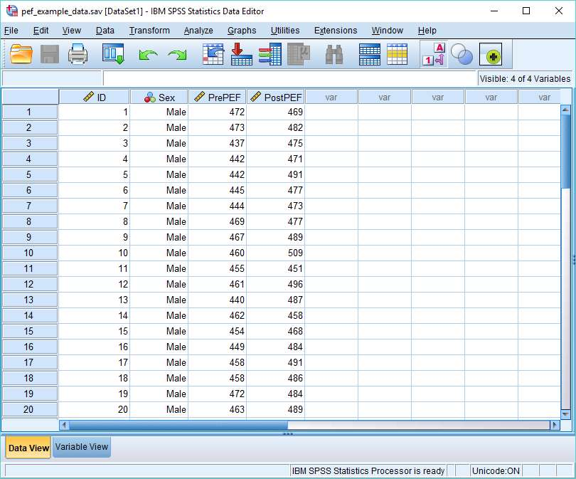 SPSS Data set for export to MySQL