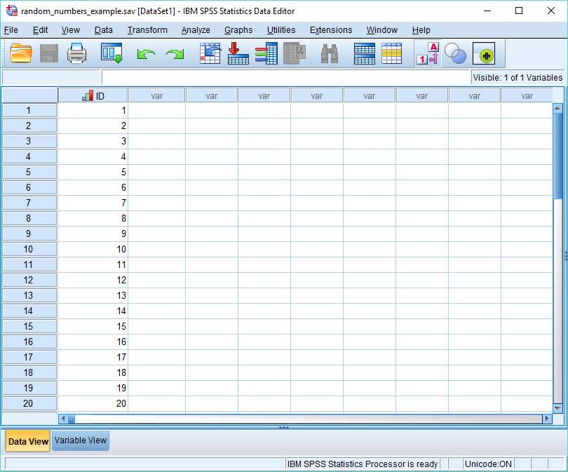 SPSS Dataview with ID