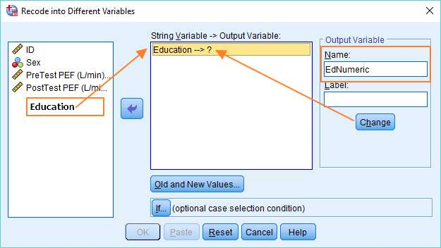 SPSS recode into different variables