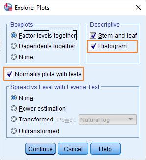 Plots dialog box